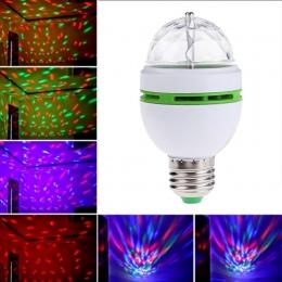 1 sztuk 3 W 6 W lampa LED RGB E27 AC 110 V-220 V automatyczne obracanie światła sceniczne magia żarówka kula dla domu DJ Party t