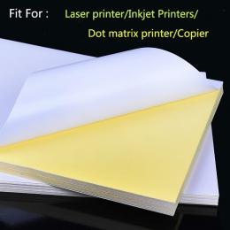 50 arkuszy A4 laserowej drukarki atramentowej kopiarki rzemiosła papieru, białej przylepna etykieta matowa powierzchnia arkusz p