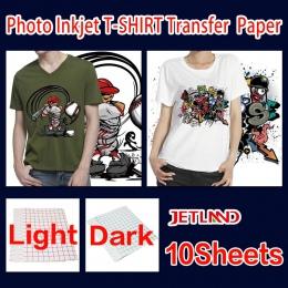 A4 atramentowy papier przenikania ciepła T-shirt transfer papier fotograficzny do ciemny lub jasny kolor odzież 10 arkuszy/opako