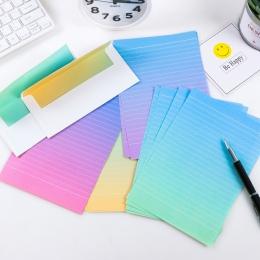 FangNymph gradientu koperty śliczne Kawaii kwiat papier do pisania list zestaw dla dzieci prezent szkolne przybory szkolne dla u