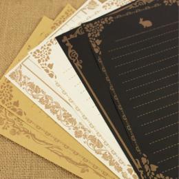 8 arkuszy/zestaw europejski styl Vintage papier do pisania list dobrej jakości kultura papiernicze Kraft Letter Office