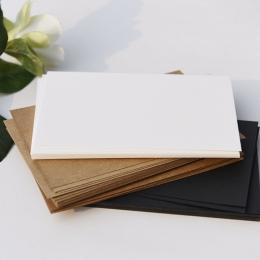 Puste Pocztówki DIY Karty DIY Brithday Okolicznościowe Rysunek Karty Czarny Papier Biały Papier Pakowy Papier 300 g/m Sztuki i R