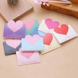 5 sztuk miłość serce Kraft papieru pocztówki okolicznościowe życzenia koperta dla DIY festiwal powitać karty artykuły papiernicz