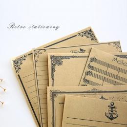 Nowy prawdziwe list Pad 8 arkuszy/zestaw europejski styl Vintage papier do pisania list dobrej jakości kultura papiernicze Kraft