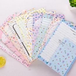 2 zestaw Kawaii duży rozmiar pisanie listów 6 pc + 3 pc otacza 9 sztuk Cartoon owoce szkoła biurowe studenci koperta papierowa l