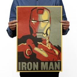 Marvel bohater Iron Man papier pakowy vintage klasyczny film plakat do dekoracji domu dekoracje ścienne sztuki biuro szkoła DIY
