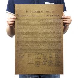 Deklaracji niepodległości stanów zjednoczonych papier pakowy vintage klasyczny film plakat do dekoracji domu ścianie garażu sztu