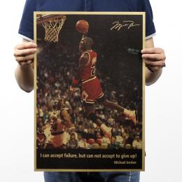 Michael Jordan nie poddawaj się papier pakowy vintage plakat sztuki dekoracji ściany domu czasopisma Retro plakaty i reprodukcje