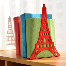 2 sztuk/para moda wieża eiffla projekt regał duży Metal Bookend uchwyt biurkowy stojak na książki organizator prezent biurowe