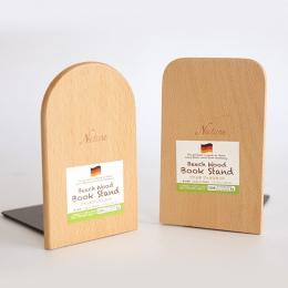 Brand new antypoślizgowa Bookends książka kończy półka uchwyt natura drewno stojak na książki