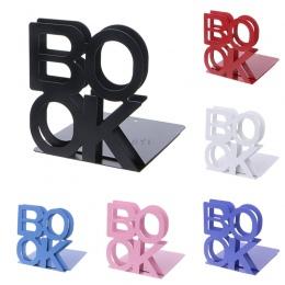 Litery alfabetu w kształcie Metal Bookends żelaza uchwyt podporowy biurko stoi na książki