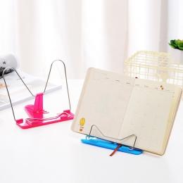 Wielofunkcyjny przenośne doprowadziły lampka do czytania półka na książki regulowany kąt metalowy stojak na książki składany dok