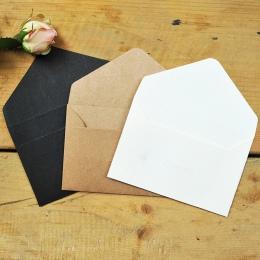 50 sztuk/partia czarny biały papier rzemieślniczy koperty w stylu Vintage europejski styl koperty dla karty Scrapbooking prezent
