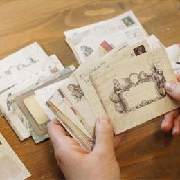 12 wzorów koperta papierowa śliczne Mini koperty w stylu Vintage w stylu europejskim na karty Scrapbooking prezent