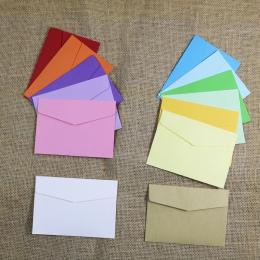Małe papierowe koperty 10 sztuk 13 cukierkowe kolory pocztówka prezent ślubny koperta zaproszenie na materiały biurowe torba pap
