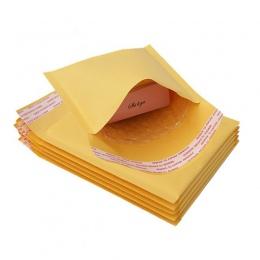5 sztuk/partia Kraft papier bąbelkowy koperty torby Mailers wyściełane wysyłka koperta z Bubble torebka wysyłkowa dostawy biznes