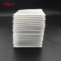 50 sztuk/(11*11 cm + 4 cm) biały Bubble koperta bąbelkowa filmowa torba z perłowym koperta wstrząsy torba