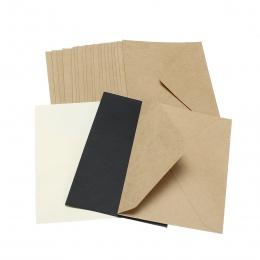 20 sztuk/zestaw klasyczny brązowy biały czarny Kraft puste Mini okno papieru koperty zaproszenie na ślub koperta prezent koperta