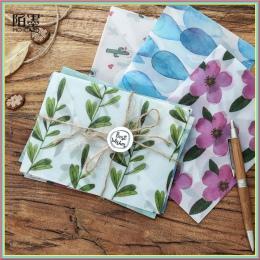 3 sztuk kolorowe kwiat wzór przezroczyste lakmusowy koperta papierowa prezent w wesele koreański biurowe z naklejki 03243