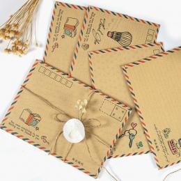 16 sztuk/partia w stylu Vintage duża koperta pocztówka list papiernicze papieru Airmail Retro szkoła artykuły biurowe na prezent