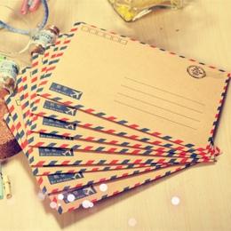 Coloffice 8 sztuk/partia duży pocztówka list papier biurowy koperta z papieru pakowego w stylu Vintage portfel koperta dla Stude