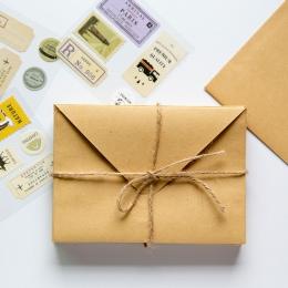 Portfel koperta 50 szt Kraft koperta papierowa prezent ślubny koperty 150*110mm szkolne i biurowe dostawca papiernicze