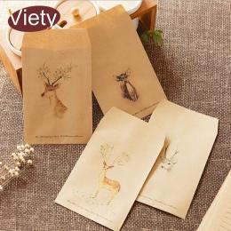 8 sztuk/partia w stylu vintage deer zwierząt koperta papierowa scrapbooking koperty małe koperty kawaii biurowe prezent