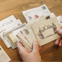 60 sztuk/zestaw Vintage małe Mini papier pakowy okno koperty zaproszenie na ślub koperta prezent koperta Ancien 73*95mm