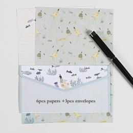 9 sztuk/partia pocztówka list papiernicze koperta papierowa w stylu Vintage koperty na zaproszenia małe prezenty Mini pisanie śl