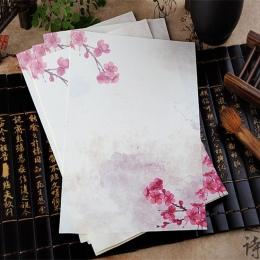 8 sztuk/partia chiński styl papier do pisania kwiat papier do pisania list dla dzieci prezent szkolne studenci artykuły papierni