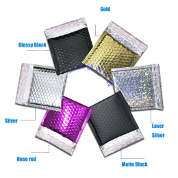 50 sztuk CD/CVD opakowanie Bubble Mailers złoty papier koperty bąbelkowe prezent torba Bubble koperta pocztowa torba 15*13 cm +