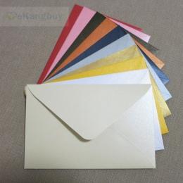 """50 sztuk 17x11 cm (6.6 """"x 4.3"""") 120g kolor perłowy koperta papierowa na zaproszenie kartkę z życzeniami pocztówka"""