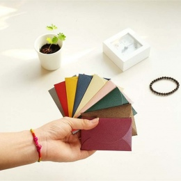 50 sztuk/zestaw Vintage miłość małe kolorowe perły puste mini koperty papierowe zaproszenie na ślub koperta/pozłacany koperta/13