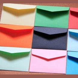 10 sztuk/partia cukierki kolor mini koperty DIY wielofunkcyjne Craft koperta papierowa na papier listowy pocztówki materiał szko