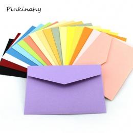 50 sztuk/partia cukierki/papier pakowy 10 kolor puste koperty 108x82mm karty bankowej koperty kartki z życzeniami Mini koperty k
