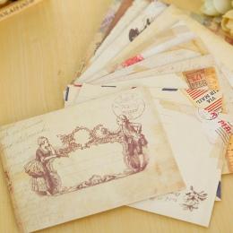 12 sztuk/partia w stylu vintage mini koperta papierowa scrapbooking koperty małe koperty kawaii biurowe prezent