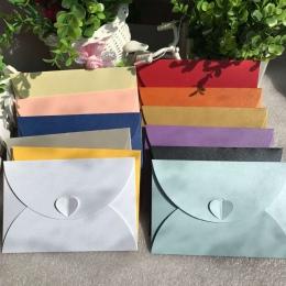 (10 części/partia) Mini klamra miłość perła koperty zaproszenia ślubne nowy rok kartki z życzeniami kartki świąteczne
