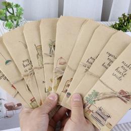 20 sztuk/partia w stylu Vintage koperta z papieru pakowego prezent słodkie dziecko codziennego podnoszenia tektura koperty list