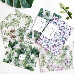 3 sztuk/partia zielony Plannt kwas siarkowy koperta papierowa przezroczyste koperty na planowanie organizator ślub zaproszenie n