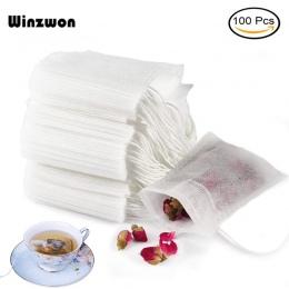 100 sztuk/partia jednorazowe torebki herbaty puste pachnące herbaty torba z sznurkiem uszczelnienia filtr papier do herbaty herb