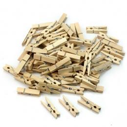 50 sztuk hurtownie bardzo małe kopalnia rozmiar 25mm Mini naturalne drewniane klipy klipy klipy Clothespin rzemiosła dekoracji k