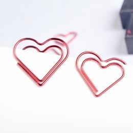 FangNymph Kawaii miłość serce 10 sztuk/paczka Metal materiał spinacz do książki papiernicze artykuły szkolne materiały biurowe p