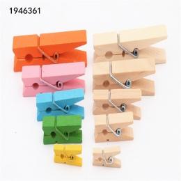 25mm 35mm 45mm 60mm 72mm kolor dziennika drewniane klipy zdjęcie klipy klip Clothespin Craft dekoracje szkoły klipy biurowe