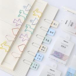 JIANWU kreatywny modell metalowe klipsy cartoon kształt spinacze do papieru kolor klipy mini klipy wielofunkcyjne metalowe zakła