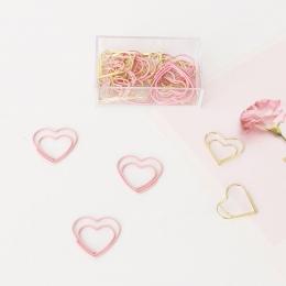 TUTU nowy śliczne różowe serce miłość projekt biuro szkolne spinacze do papieru biurowe, cukierki uczeń zakładki, 20 sztuk/pudło