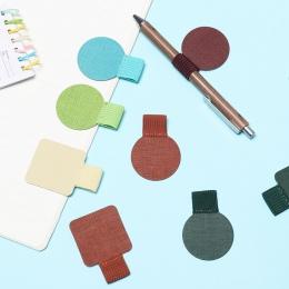 1 sztuk 16 styl samoprzylepne skórzane pióro klip do notebooków czasopisma schowki uchwyt na długopis ołówek Pętla elastyczna