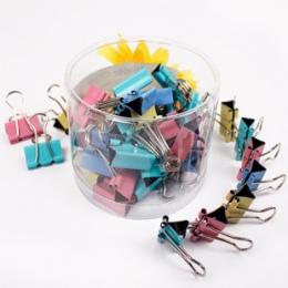 60 sztuk/partia 15mm kolorowe Metal spinacze do papieru spinacz do papieru biurowy wiążące materiały