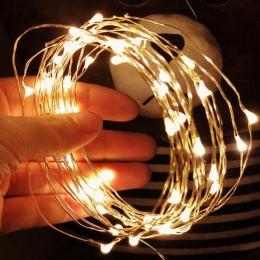 1/2/5/10 M drut miedziany LED String Lights oświetlenie wakacje Fairy światła boże narodzenie Garland na nowy rok ślub strona de