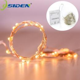 Led struny światła 2 M 5 M 10 M 100 drut miedziany 3XAA na baterie boże narodzenie Wedding Party Decoration LED string Fairy świ