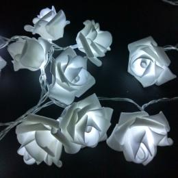 YIYANG 1.5 M 10led bateria AA LED Rose boże narodzenie światła wakacje String światła walentynki dekoracje ślubne kwiat żarówki